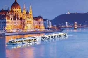 Cruise on Danube River in Budapest, Hungary