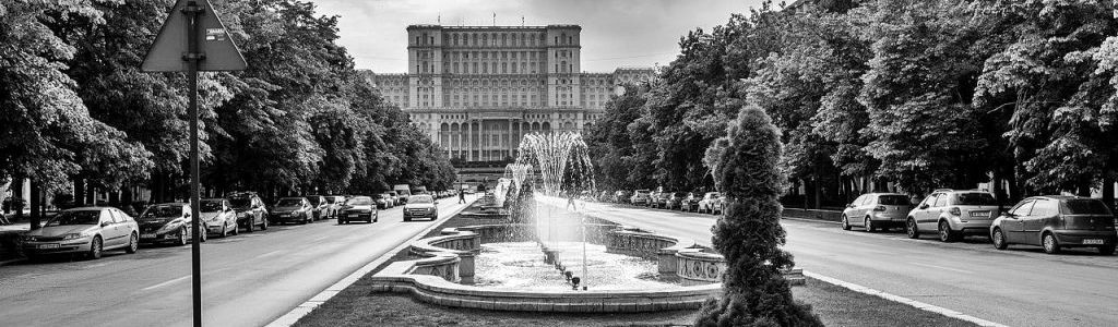 The Palace of Parliament and Victory of Socialism Boulevard
