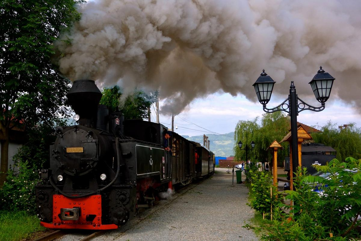 Mocanita Steam Train, Romania