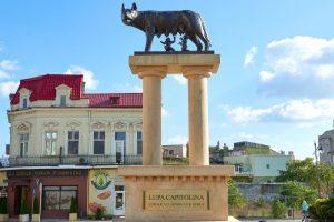 Replica of the Capitoline Wolf in Constanta, Romania